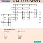 template topic preview image US Presidents Day Crossword Puzzle
