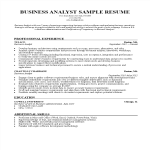 template topic preview image Business Analyst CV sample