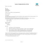 template topic preview image Notice Of Lease Termination Letter From Landlord To Tenant