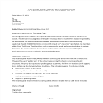 image School Trainee Prefect Appointment Letter