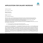 template topic preview image Request for salary increase