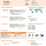 template topic preview image Dynamic Resume template