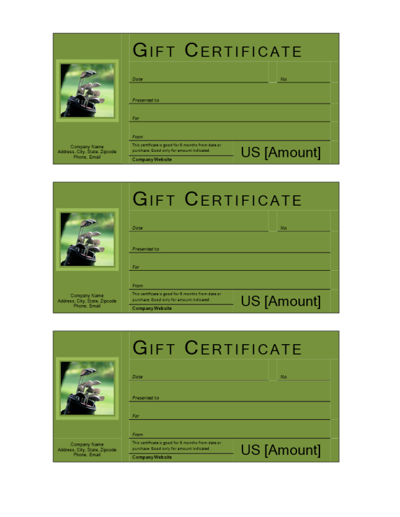 template preview imageGolf Gift Voucher