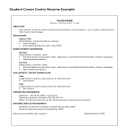 template topic preview image Student Career Center Resume example