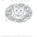 template topic preview image Mandala Cat Coloring Page
