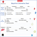 template topic preview image Printable Babysitter Information Sheet