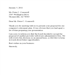 template topic preview image Plan Rejection Letter