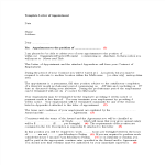 template topic preview image Employee Appointment Letter in