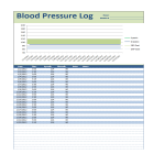 template topic preview image Blood Pressure Log spreadsheet template