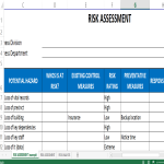 image Risk Assessment Template Excel
