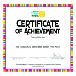 template topic preview image impressive Certificate Of Achievement