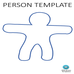 template topic preview image Blank Person Template A4 Portrait