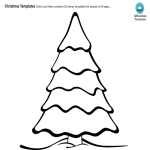 template preview imagePrintable Christmas Tree Coloring Page