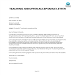 template topic preview image Teaching Job Offer Thank You Letter