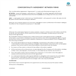 template topic preview image Confidentiality agreement between firms