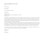 template topic preview image Job Application Short Cover Letter