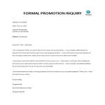 template topic preview image Promotion Inquiry Letter