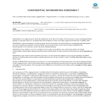 image Confidential Information Agreement