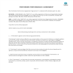 template topic preview image Performer Performance Agreement