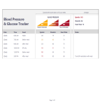 template topic preview image Blood Pressure Log Template sheet in excel