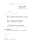 template topic preview image Hospital Pharmacist Resume