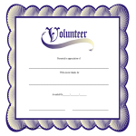 template topic preview image Volunteer Certificate