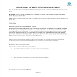 image Dissolution Property Settlement Agreement template