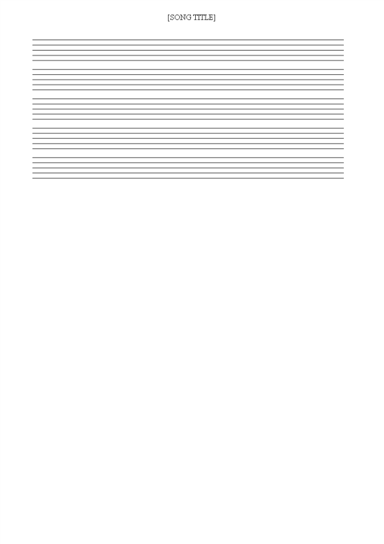 template topic preview image Free printable Music Staff Sheet 12 lines