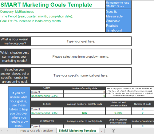template topic preview image SMART Marketing Goals Template