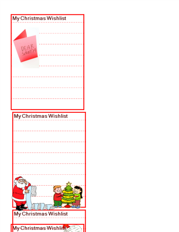 template preview imageWish List for Christmas