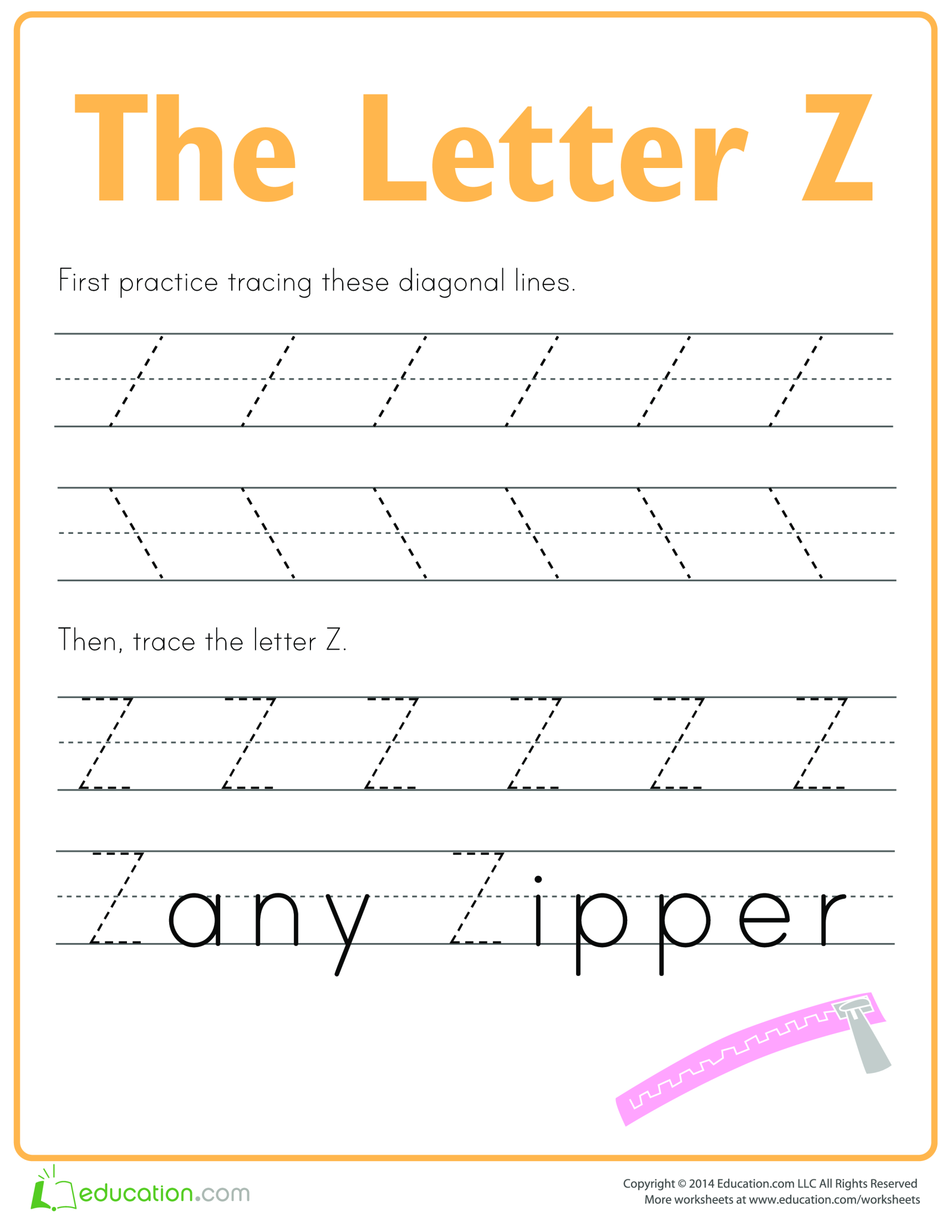 template topic preview image Learn to write letter Z