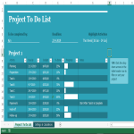 template topic preview image Project to do list in Excel