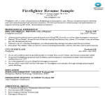 template topic preview image Firefighter Resume Sample