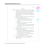 template topic preview image Mla Outline