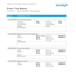 template topic preview image Travel Itinerary sample