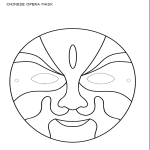 template topic preview image Chinese Opera Mask Coloring Page