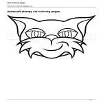 template topic preview image Stampy Cat Coloring Page