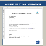 template topic preview image Online Meeting Invitation