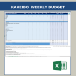 template topic preview image Kakeibo Budgeting Worksheet Weekly