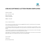 template topic preview image Acceptance Letter For Job Offer