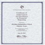 template topic preview image Certificate Of Achievement Excellence Financial Reporting