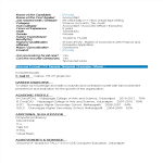 template topic preview image Fresher Accountant Resume Format