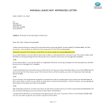 template preview imageAnnual Leave request refusal letter