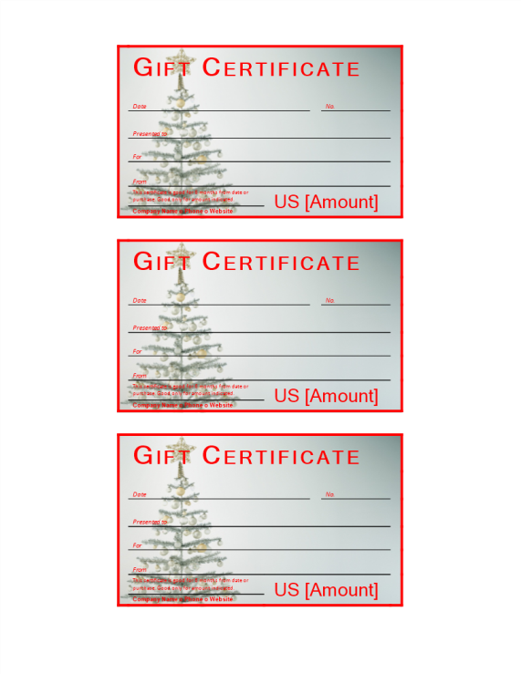 template preview imageChristmas Gift Certificate sample