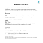 template topic preview image Sample Rental Contract