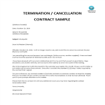 template topic preview image Letter of Termination of Contract