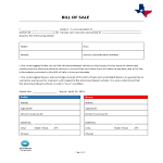 template topic preview image Bill Of Sale Texas
