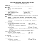 template topic preview image Electrical Engineer Fresher Resume sample