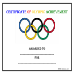 template topic preview image Certificate Of Sports Achievement