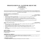 template topic preview image Nm Janitor Resume